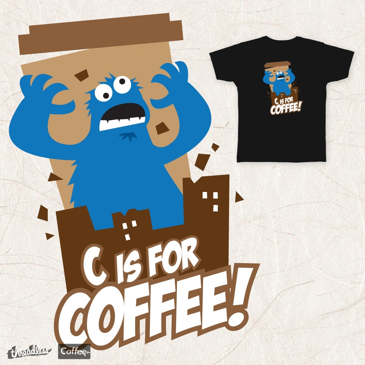 score the coffee monster by sarcasquatch on threadless