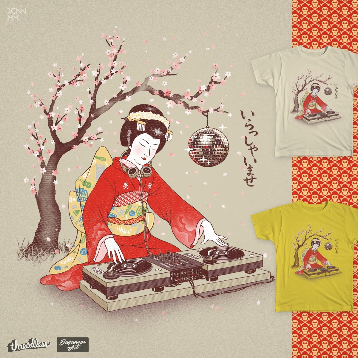 DJ Geisha by ronin84 on Threadless