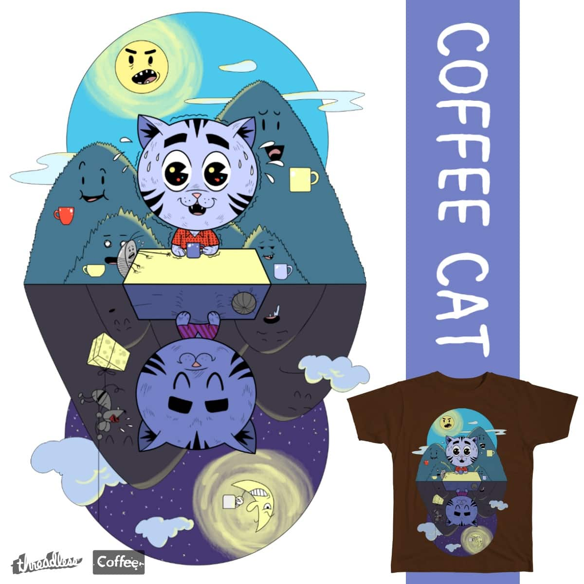 Coffee Cat by marsmckay on Threadless