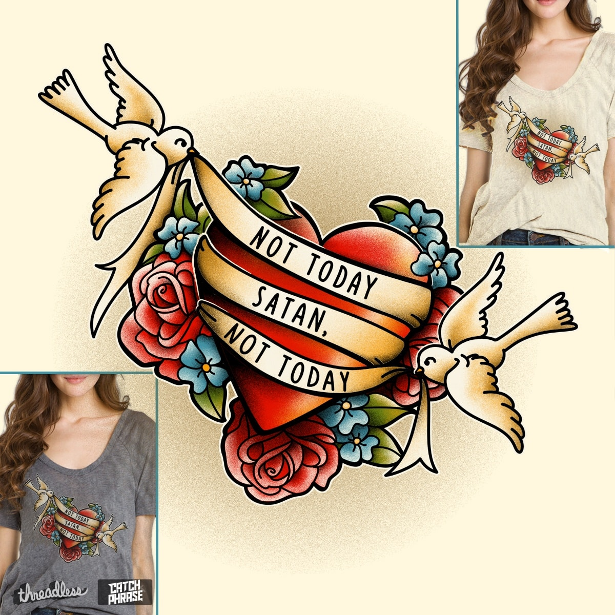 Not today Satan by Kellabell9 on Threadless