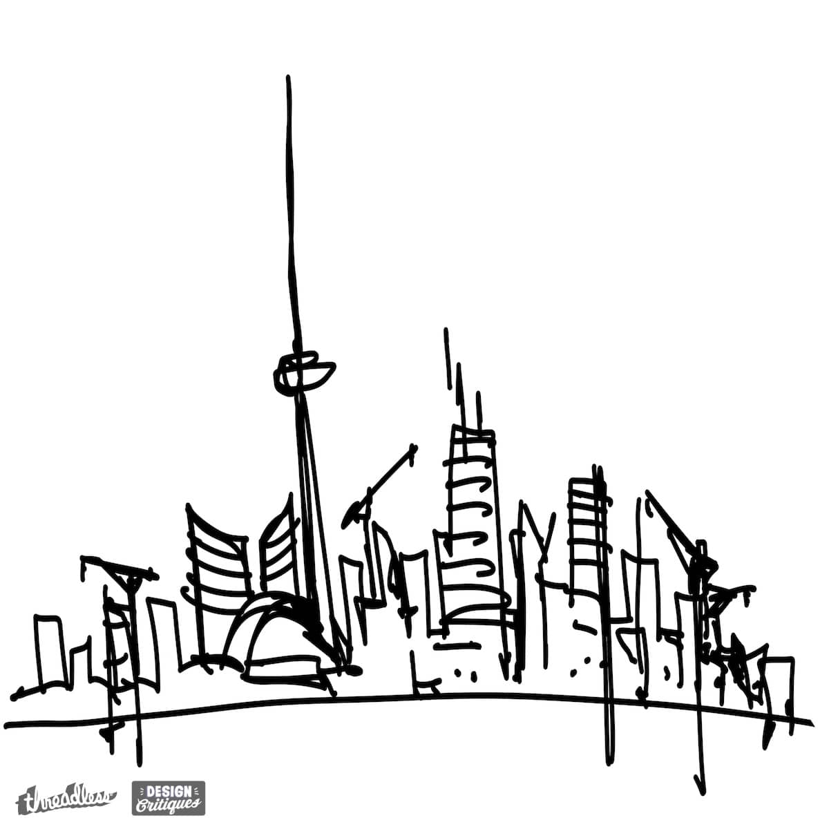 score toronto skyline by wearskyline on threadless. Black Bedroom Furniture Sets. Home Design Ideas
