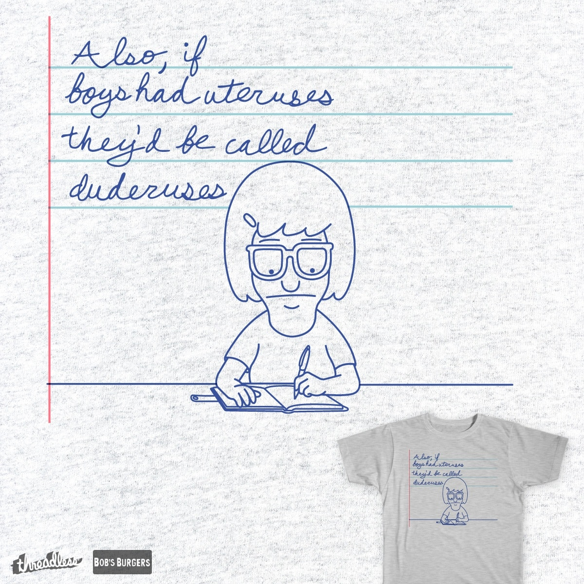 Dear Diary... by postlopez on Threadless