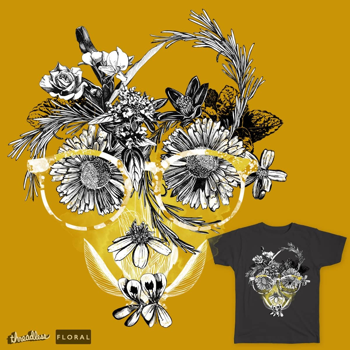 floral arrangement by minimoshout on Threadless