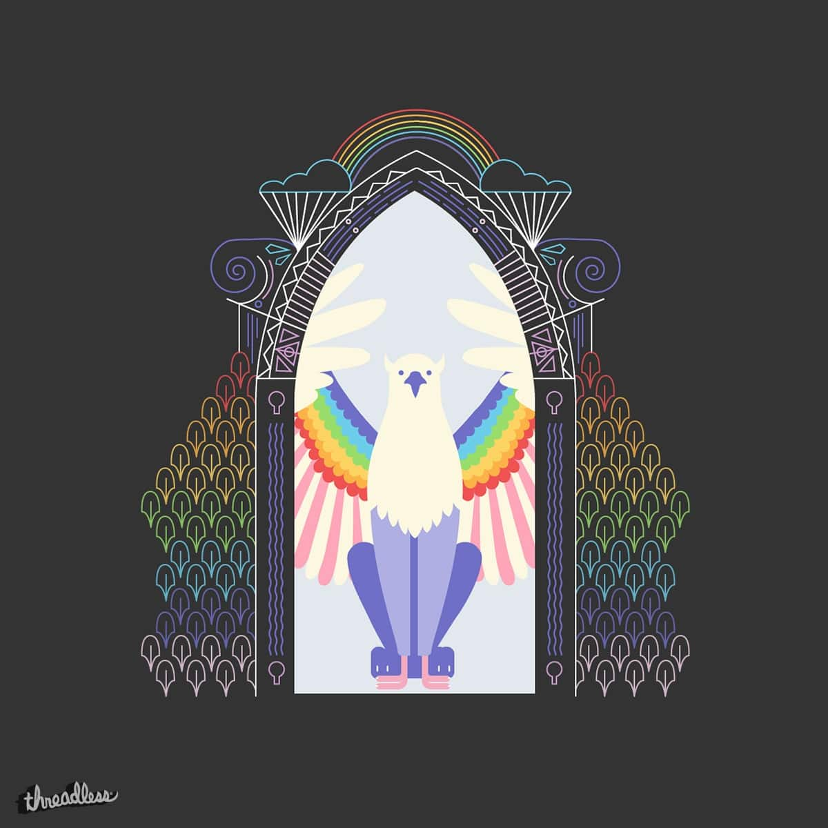 Griffin (door) Pride by niegeborges on Threadless & Score Griffin (door) Pride by niegeborges on Threadless