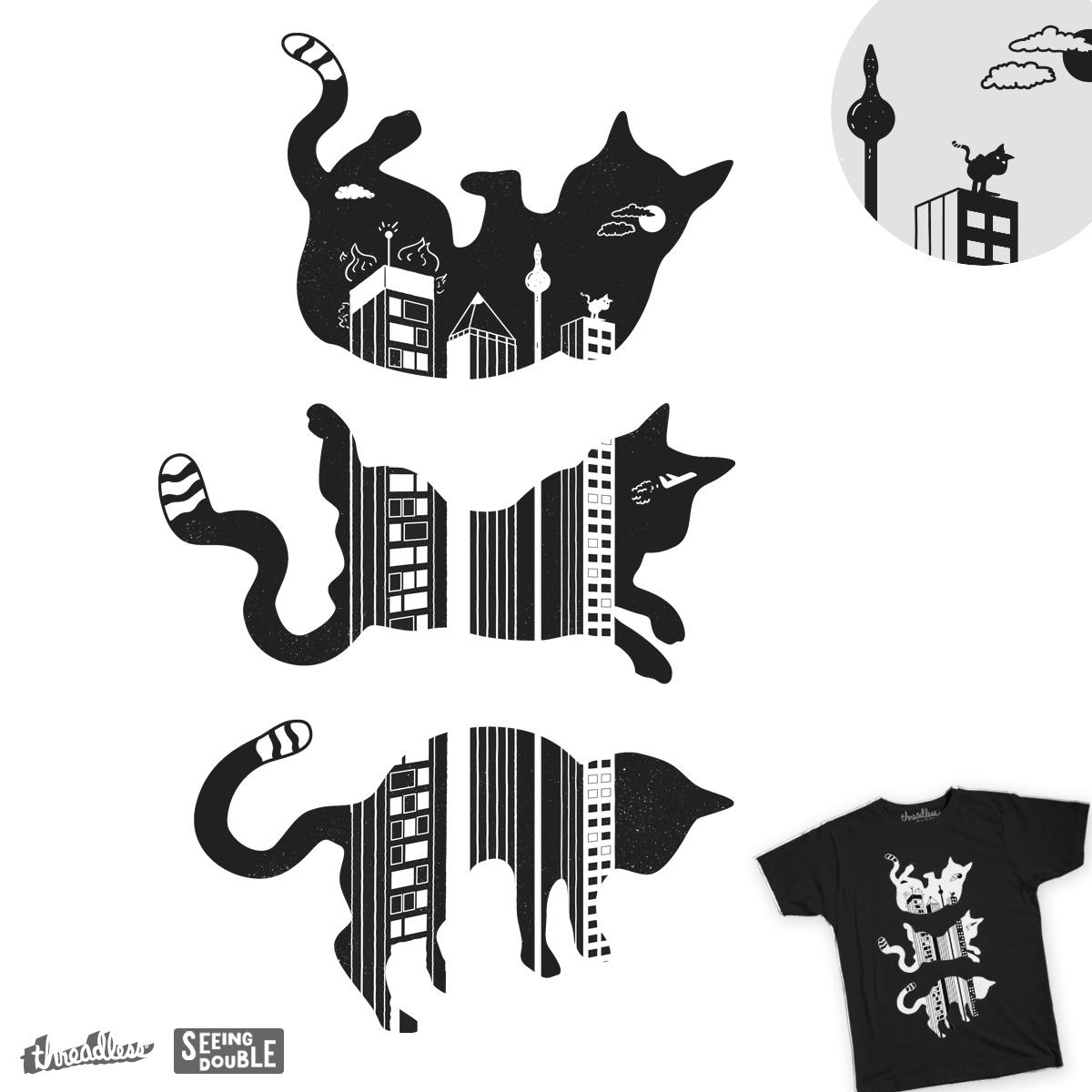 Cat Falls by darrudadesign on Threadless