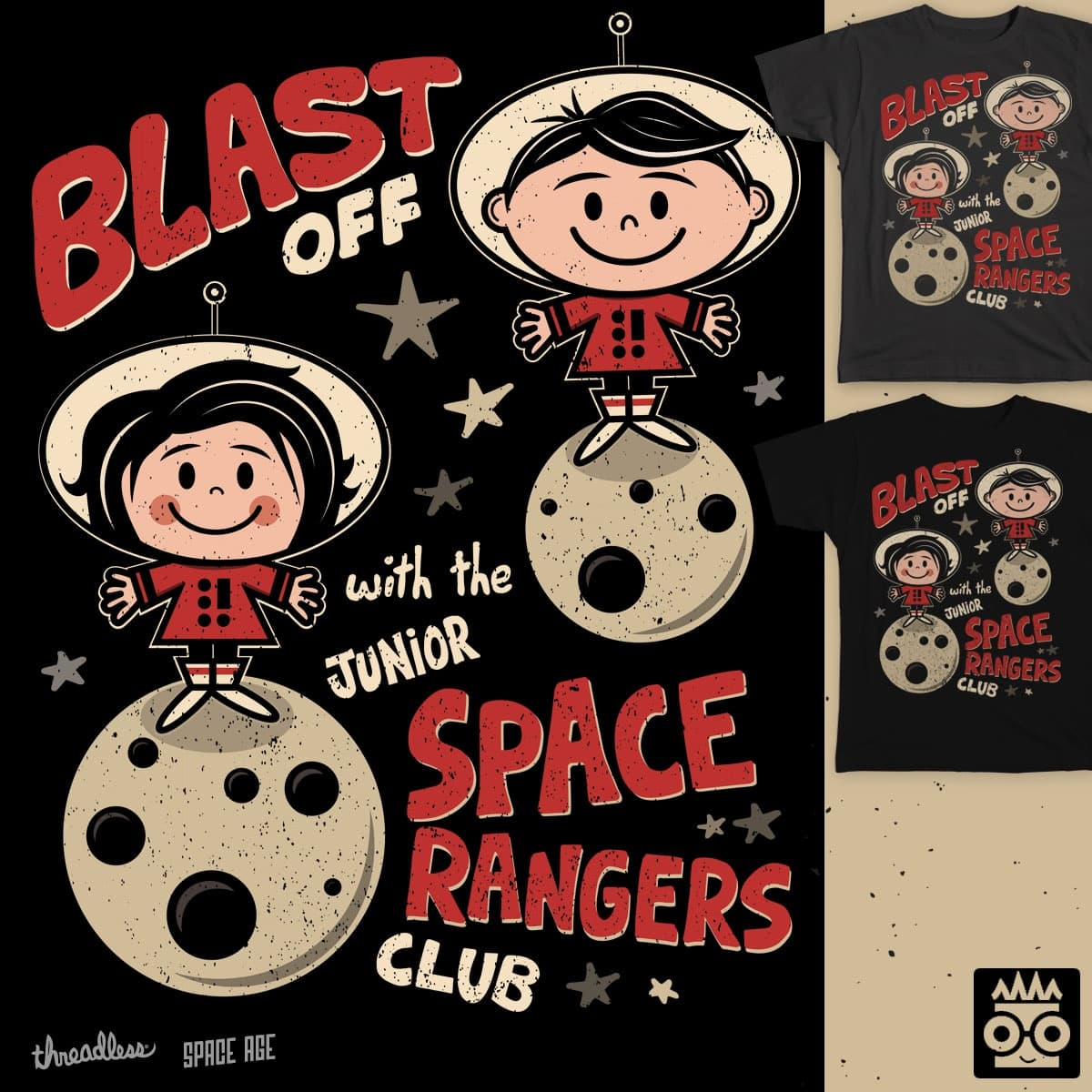Blast Off with the Space Rangers by treemanjake on Threadless