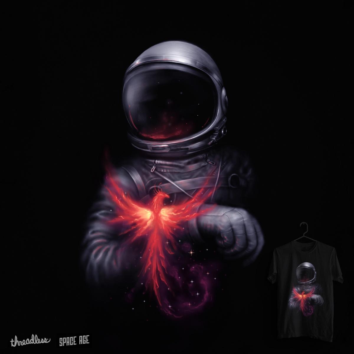 astronaut on fire - 720×720
