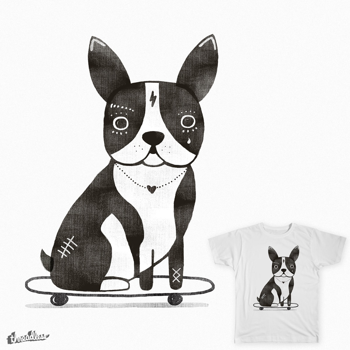 Boston Skater by Farnell on Threadless