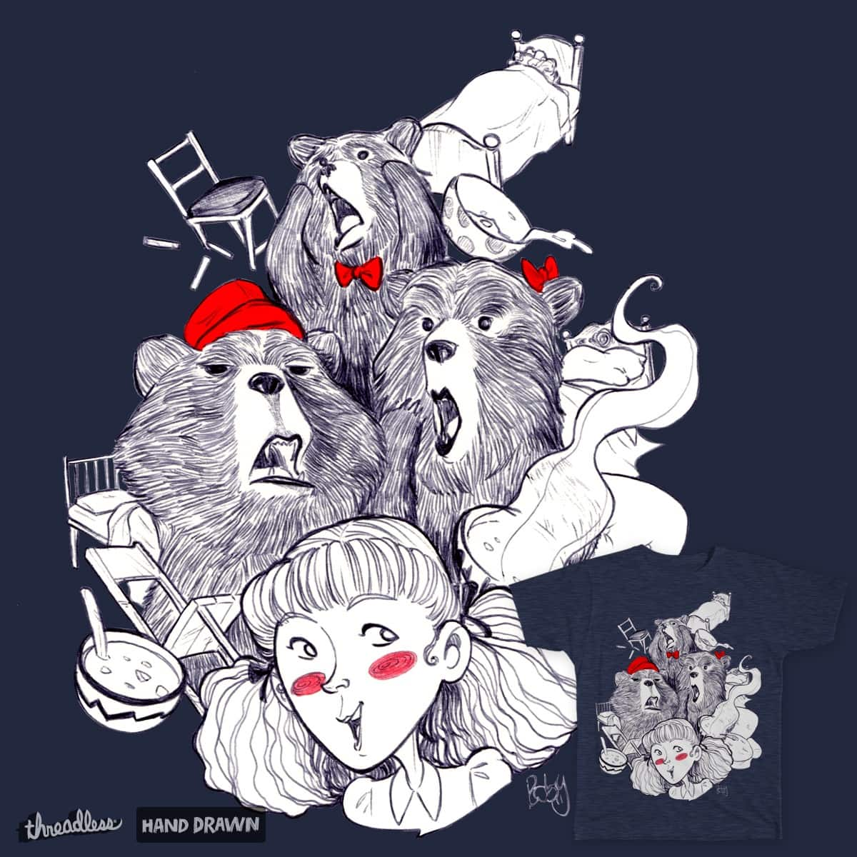 The Three Bears by robypierpi on Threadless