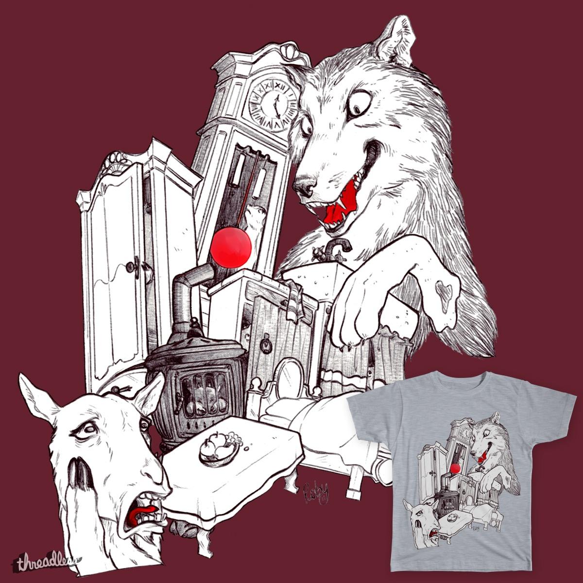 Wolf&7LittleGoats by robypierpi on Threadless