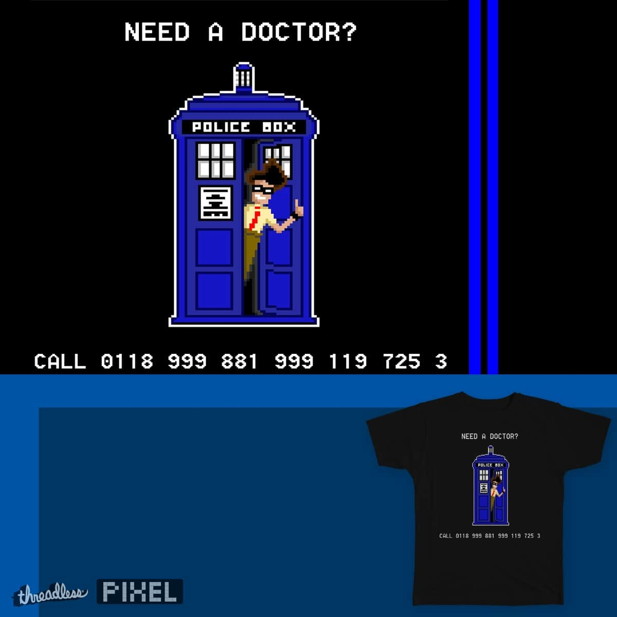 The I.Tardis Crowd by HahnShotFirst on Threadless