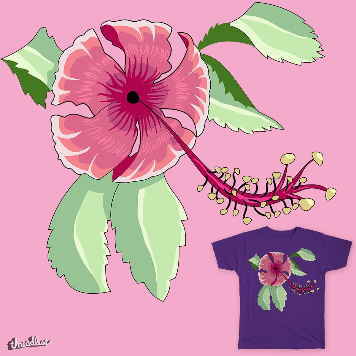 Score Hibiscus flower by DanielBay on Threadless