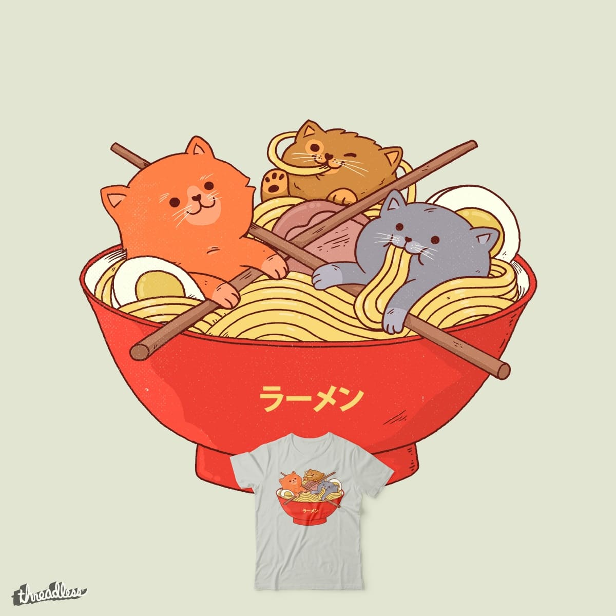 Ramen and cats  by ppmid on Threadless
