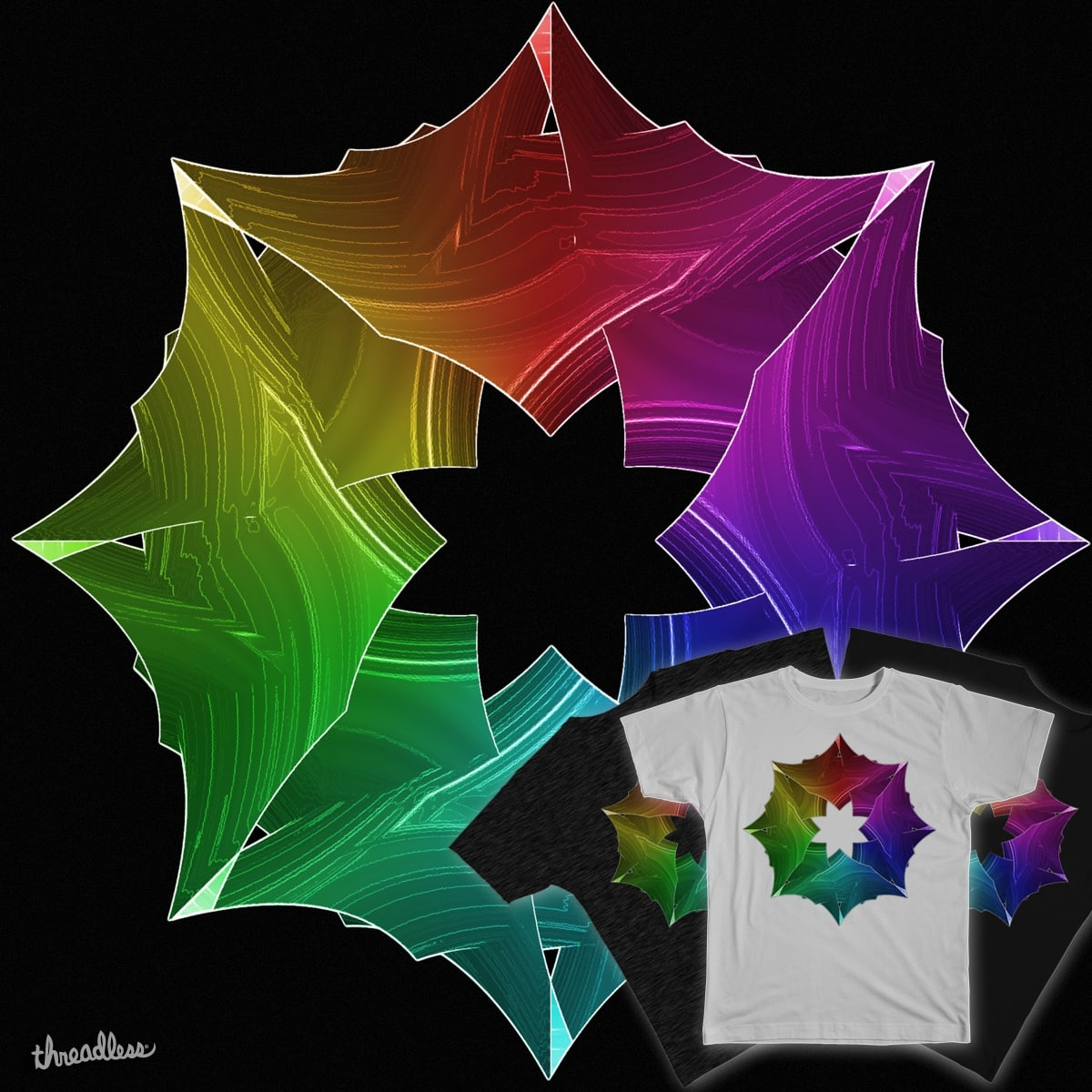 Prism Snowflake by eriklectric on Threadless