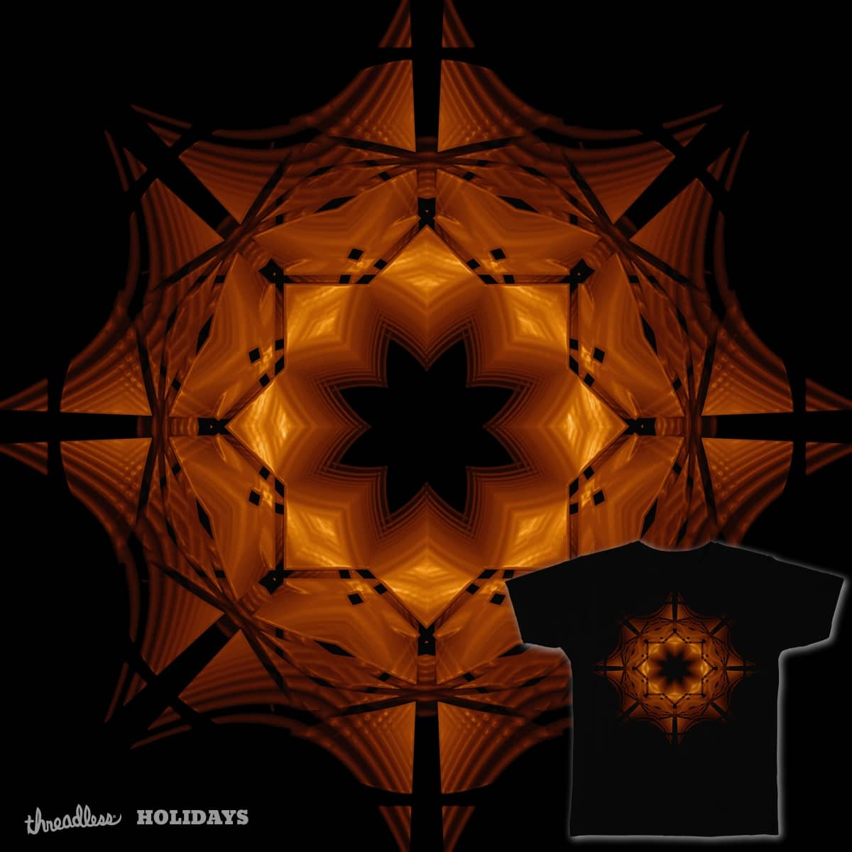 Halloween Snowflake by eriklectric on Threadless