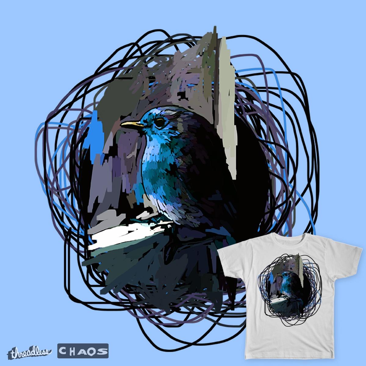 Blue Robin by gr4v17 on Threadless
