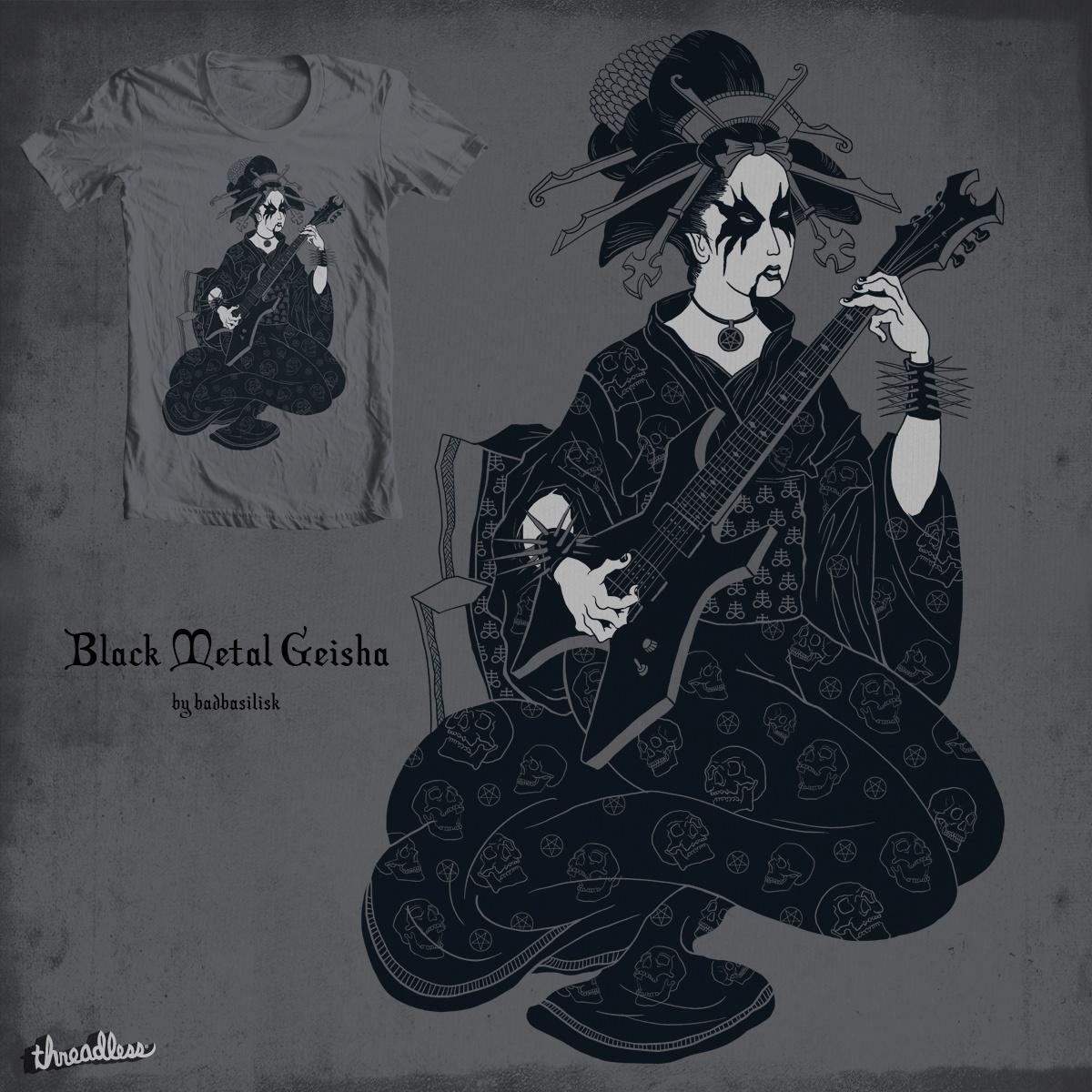 Black Metal Geisha by badbasilisk on Threadless