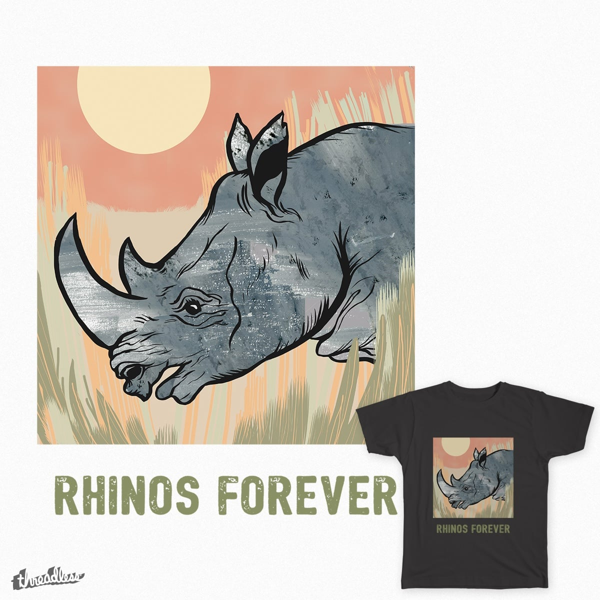Rhinos Forever by feralpony on Threadless