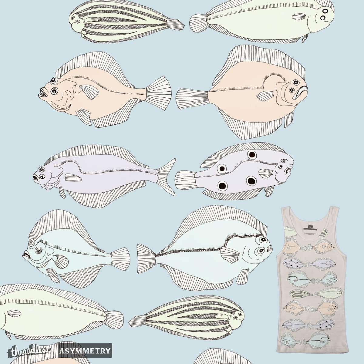 Fluke or Flounder? by WondrouStrange on Threadless