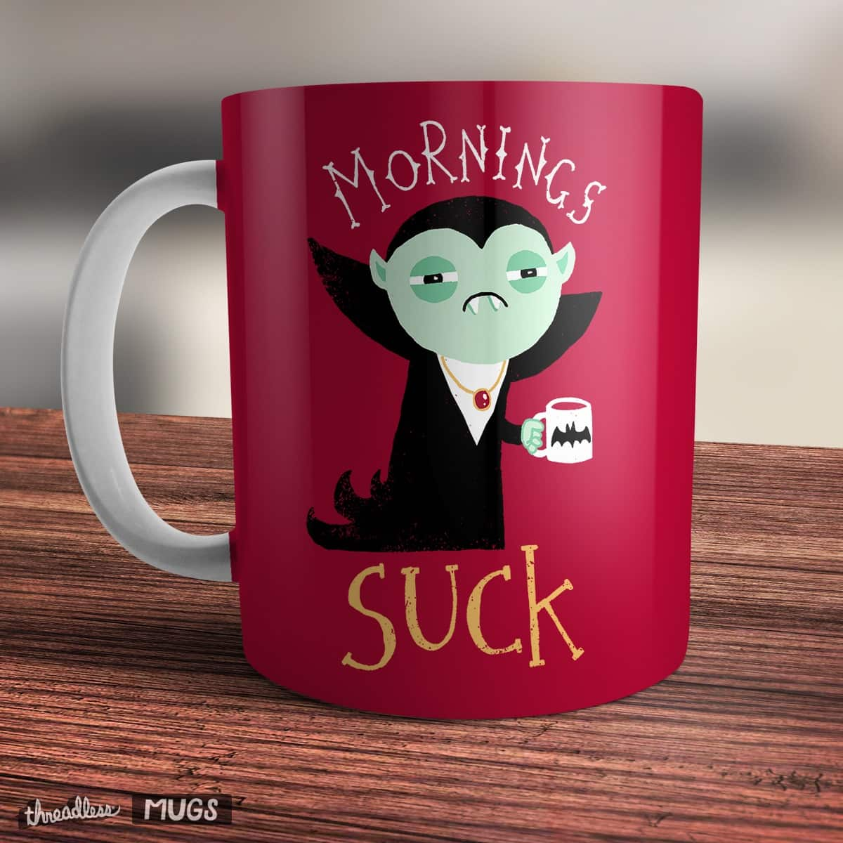 Mornings Suck by DinoMike on Threadless