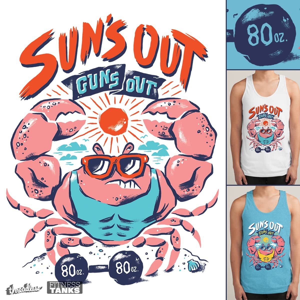 Suns Out Guns Out by cpdesign on Threadless