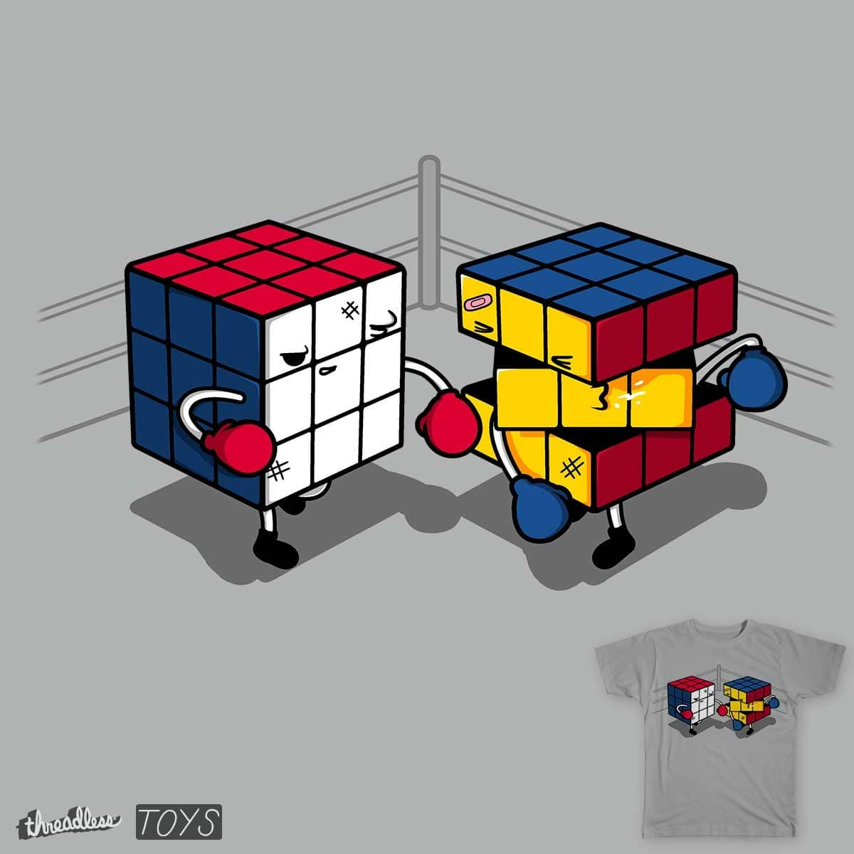 Cube Fight!  by Raffiti on Threadless