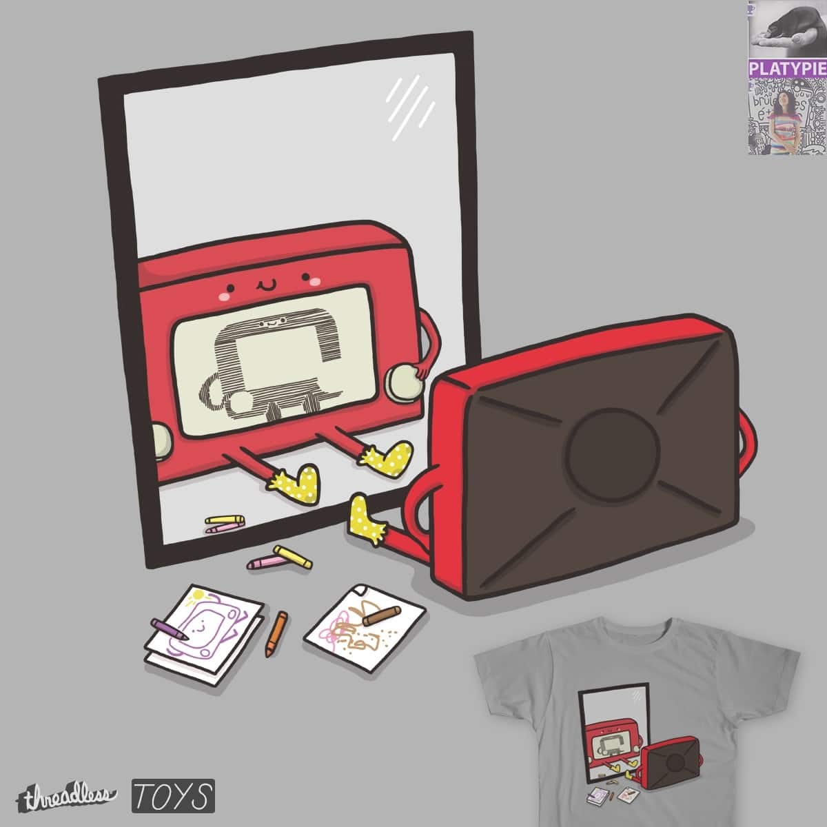 Me Drawing Me On Me by Ri7Li and mip1980 on Threadless