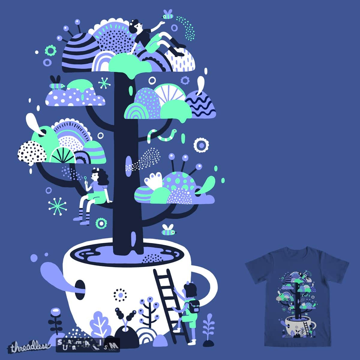 Up a tree cup by micpod on Threadless