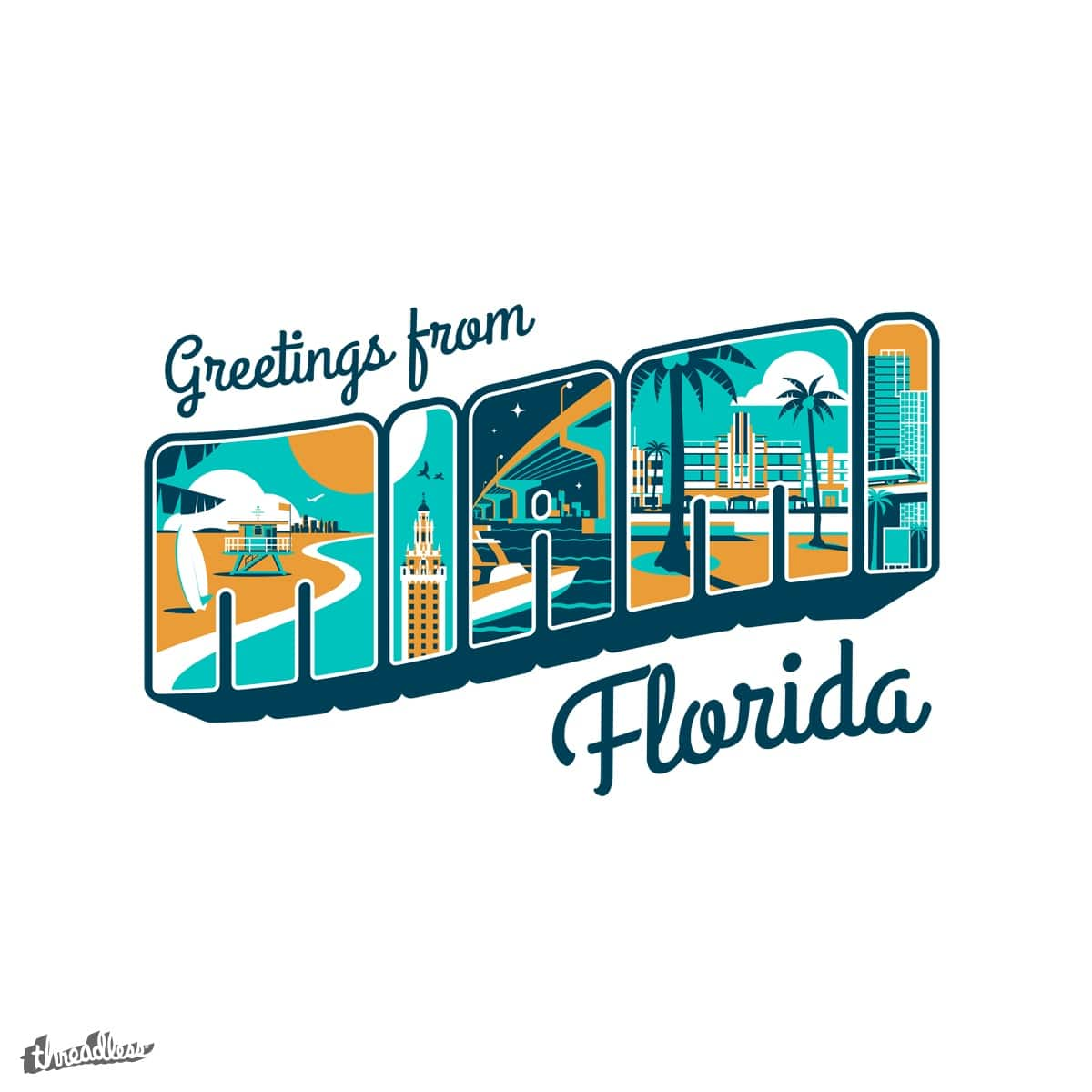 Score Greeting From Miami Florida By Rejectedbrand On Threadless