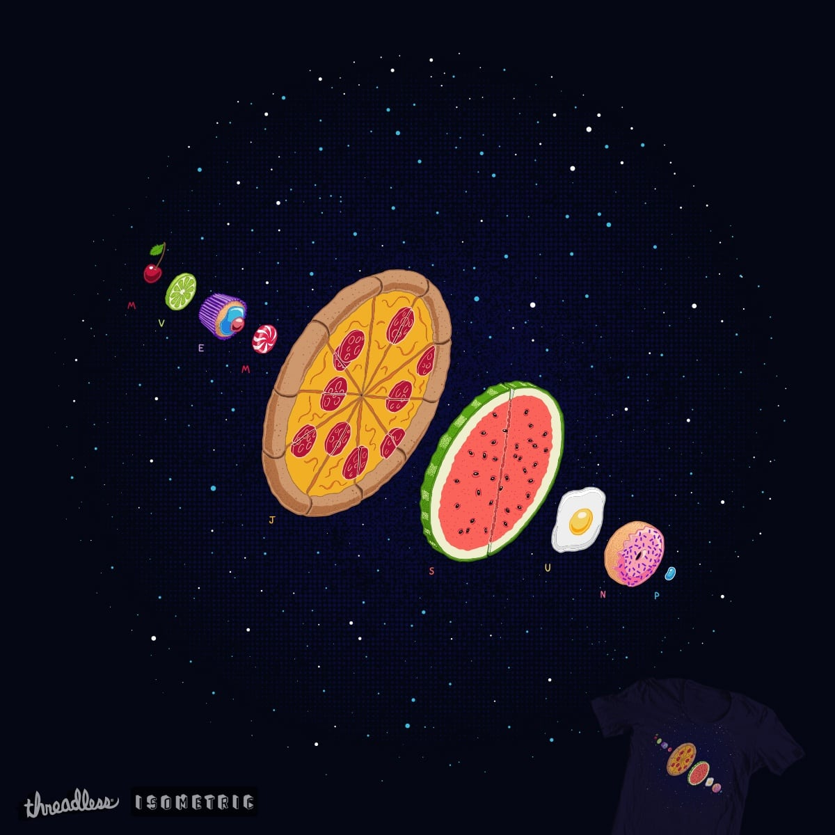 Gastronomy (if Earth was a cupcake) by SpennieDraw on Threadless