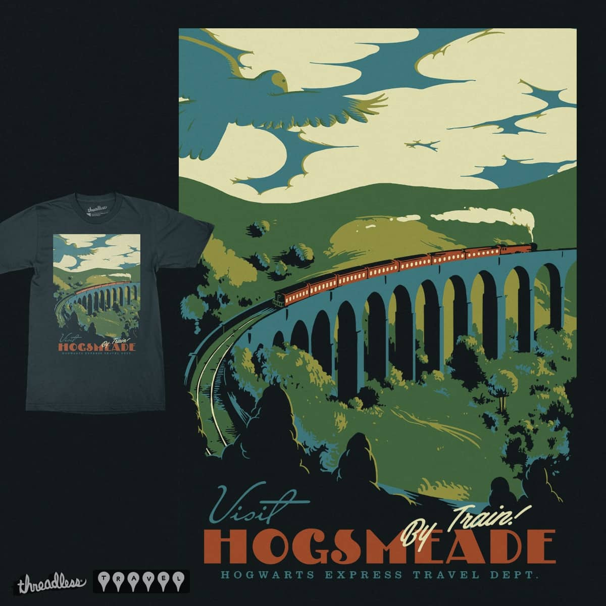 Visit Hogsmeade by mathiole on Threadless