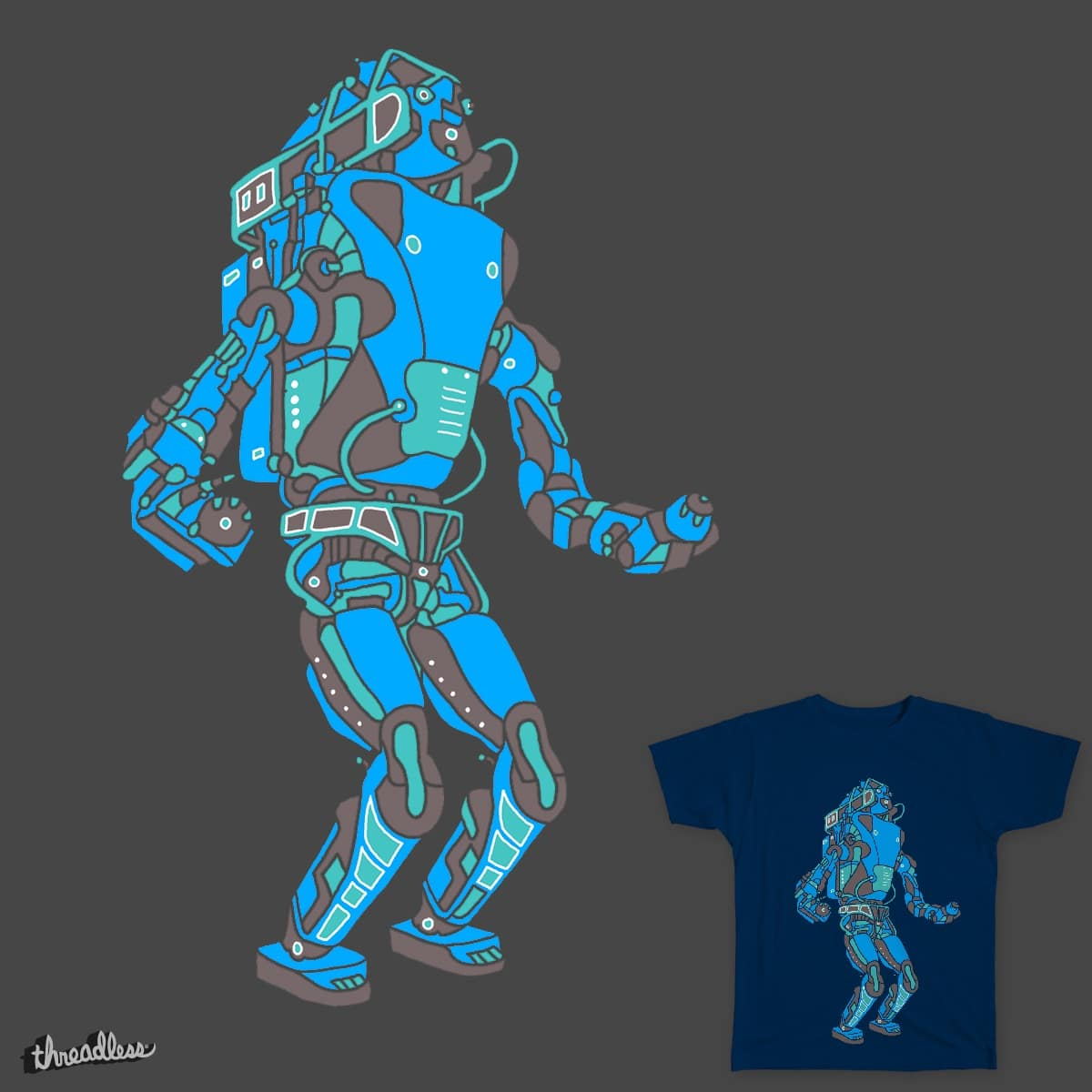 Threadless - ATLAS BOSTON DYNAMICS ROBOT