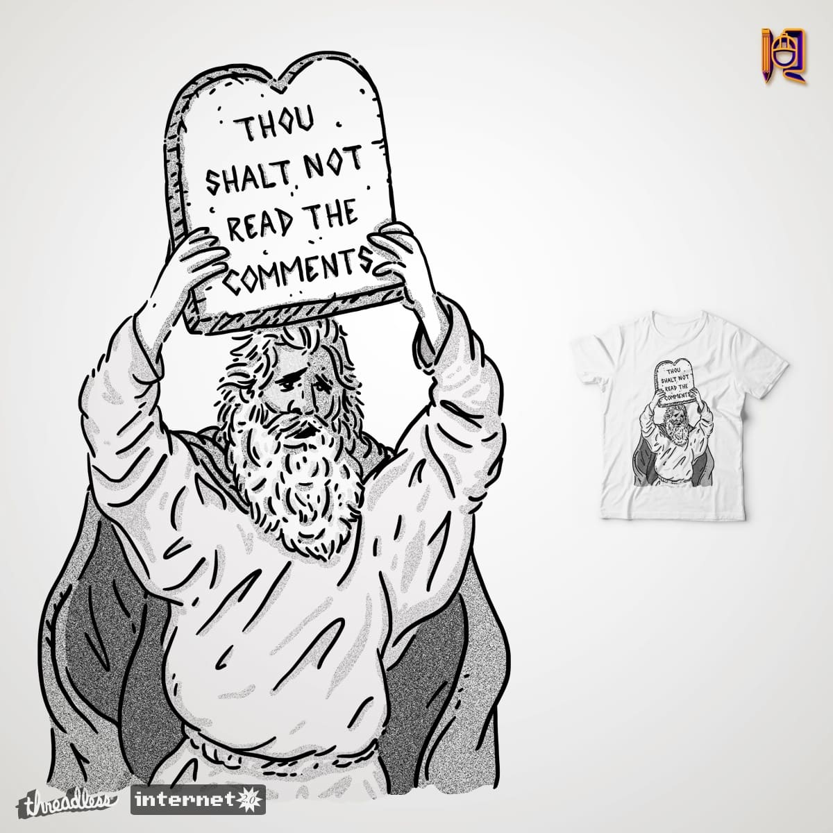 The first Commandment of the Internet by rodrigobhz on Threadless