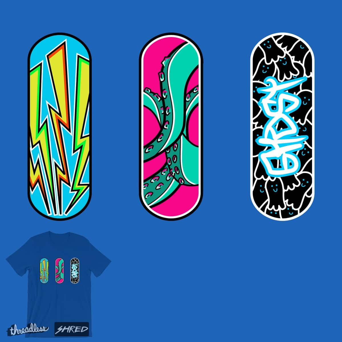 The art of skateboarding by freeves on Threadless