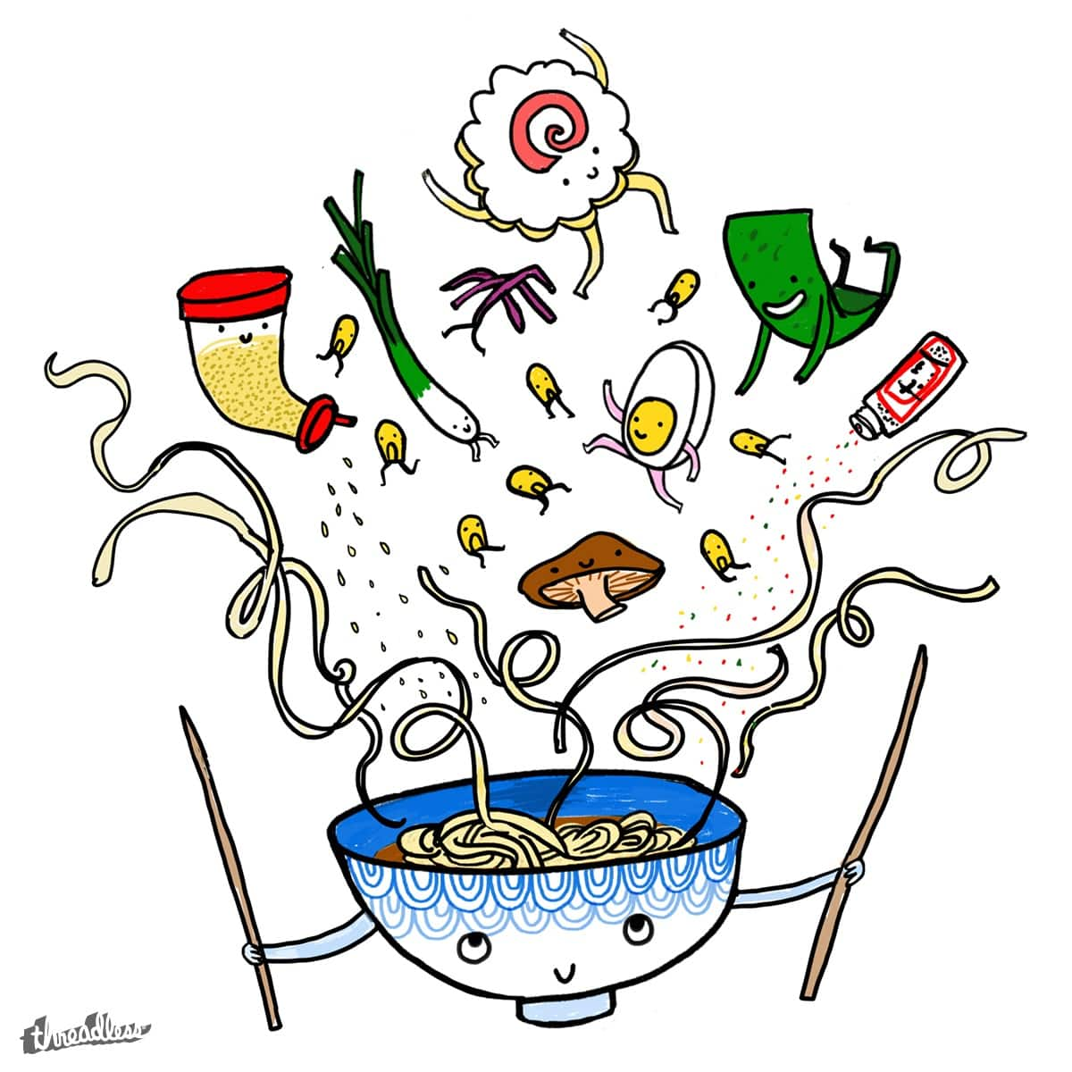Ramen Party!!! by drawdrawdraw on Threadless