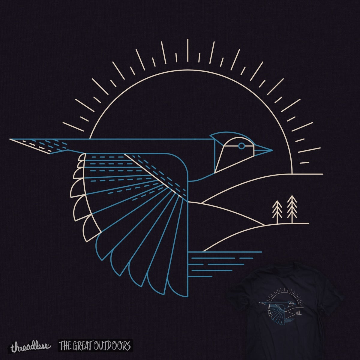 Blue Jay by ThePaperCrane on Threadless