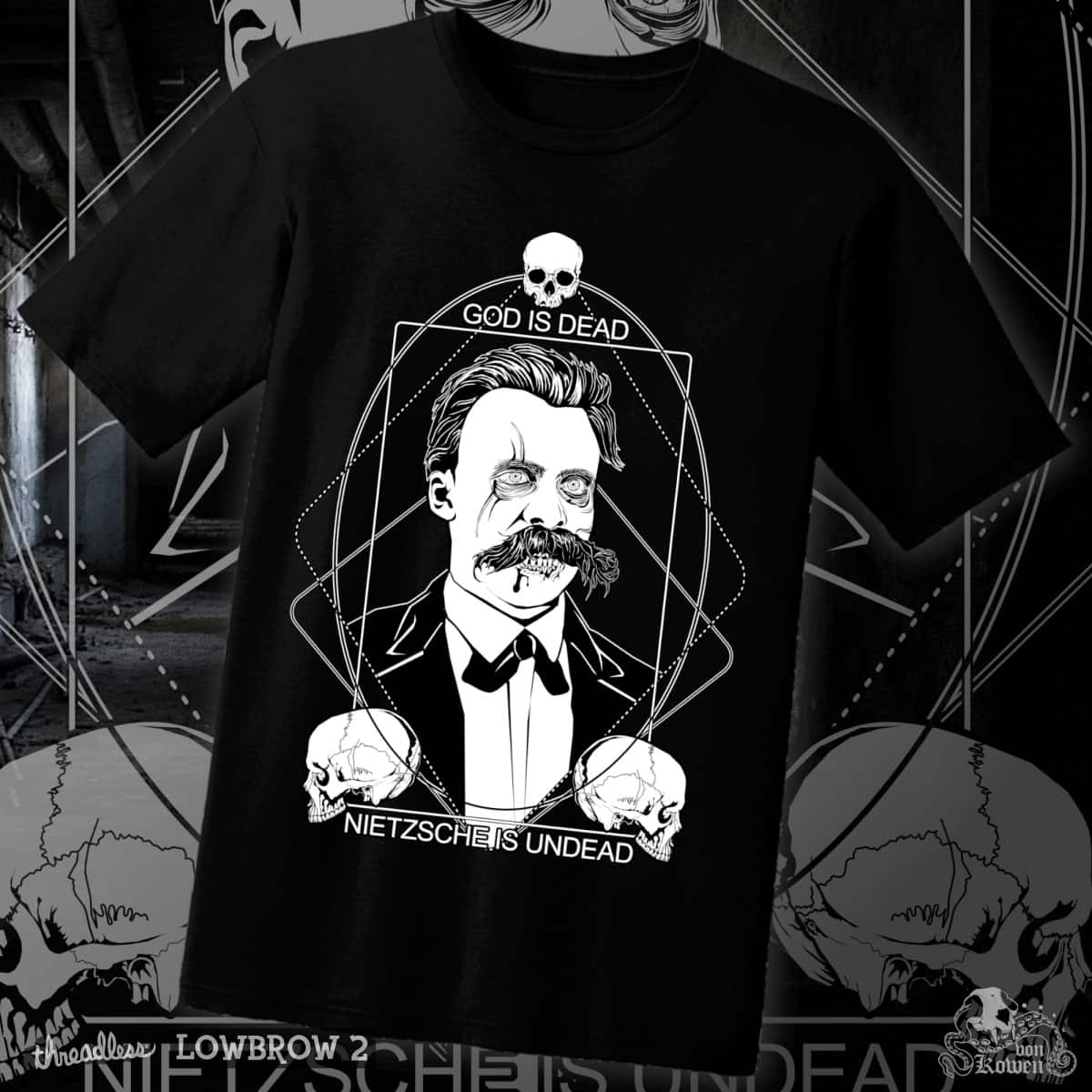 Nietzsche Zombie by vonKowen on Threadless