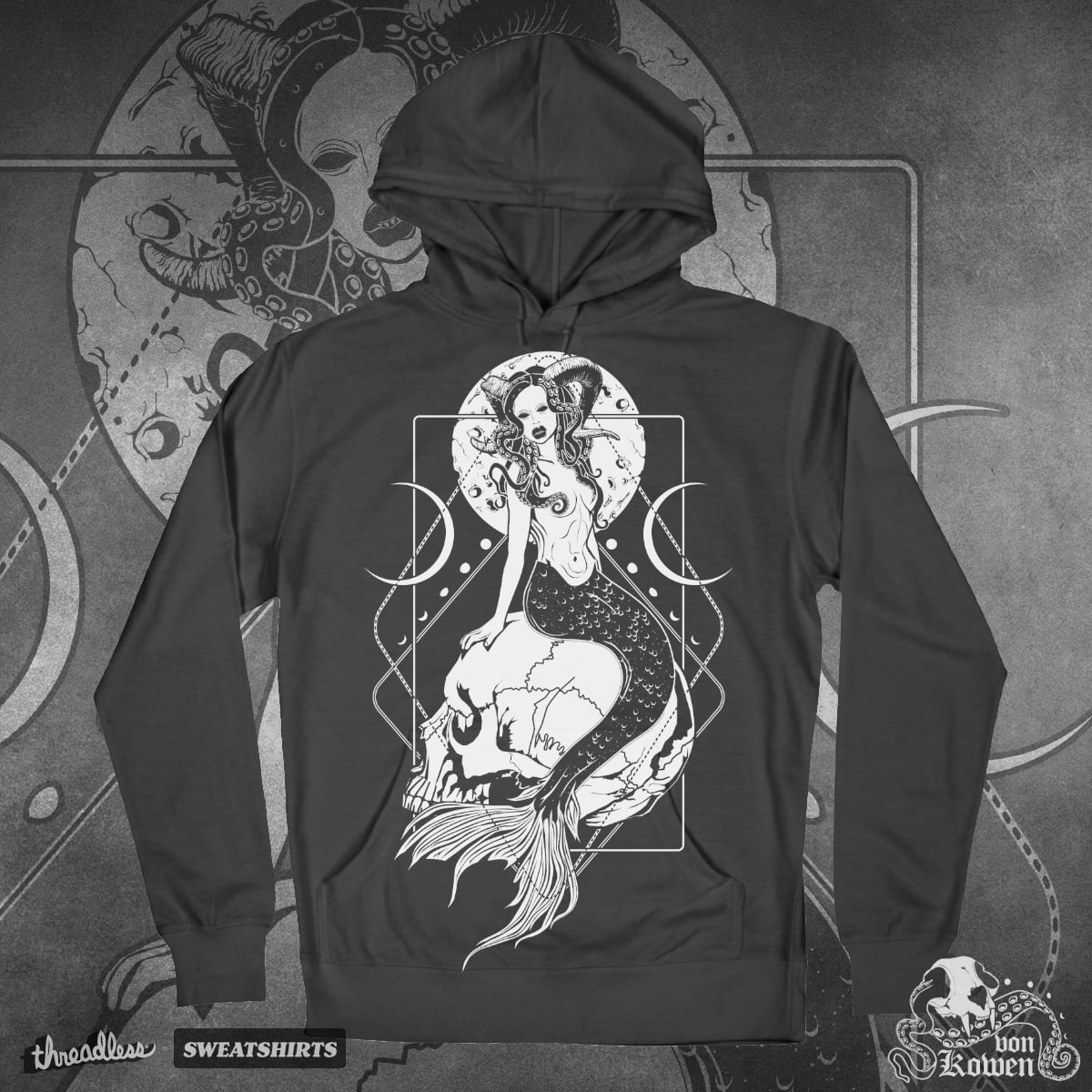 Creepy mermaid by vonKowen on Threadless