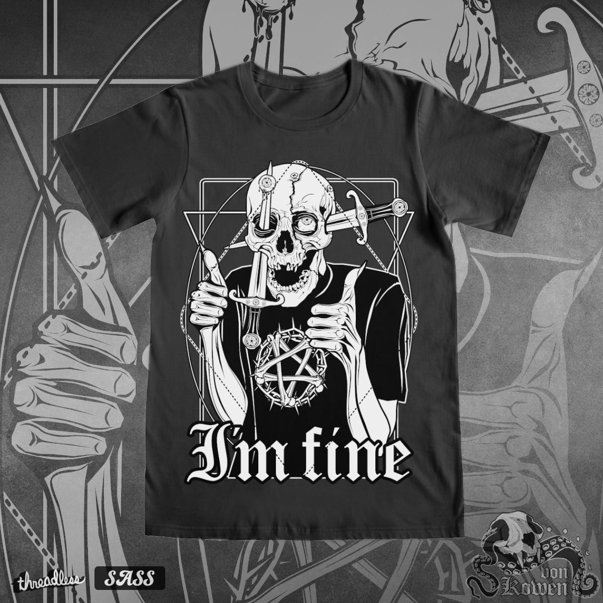I'm fine by vonKowen on Threadless
