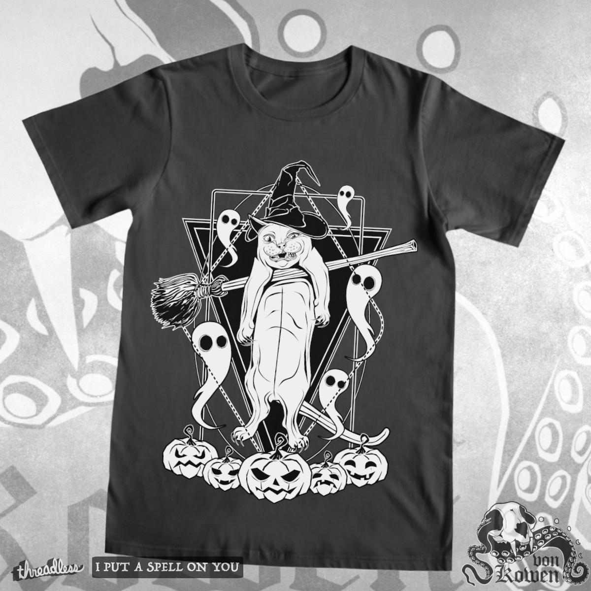 Witches cat by vonKowen on Threadless