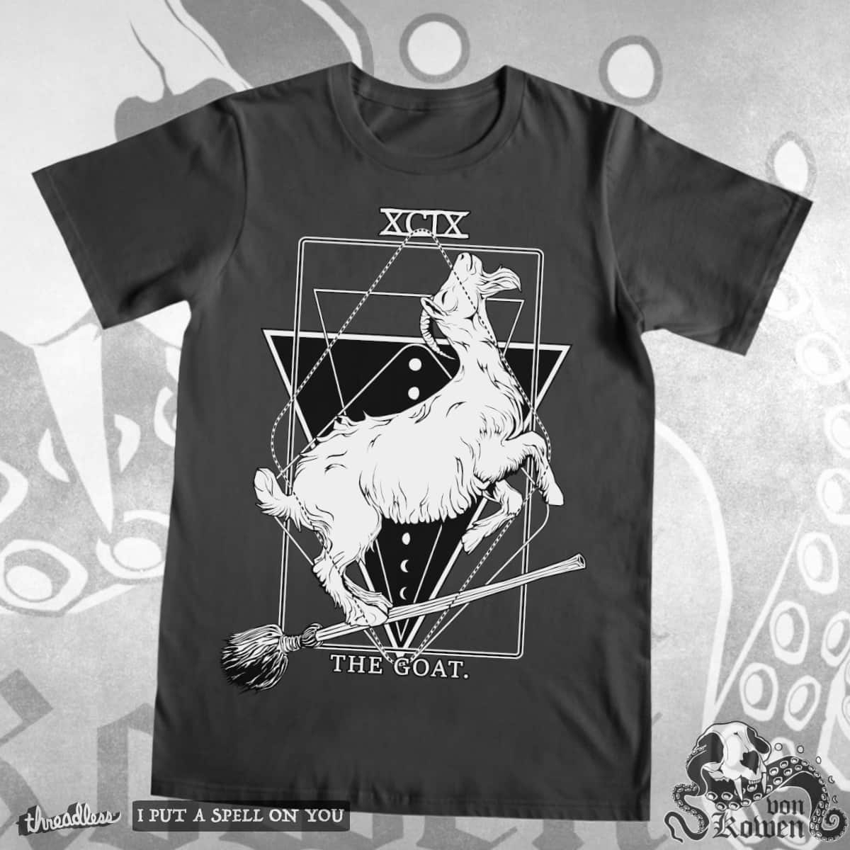 The Goat (on witches broom) by vonKowen on Threadless