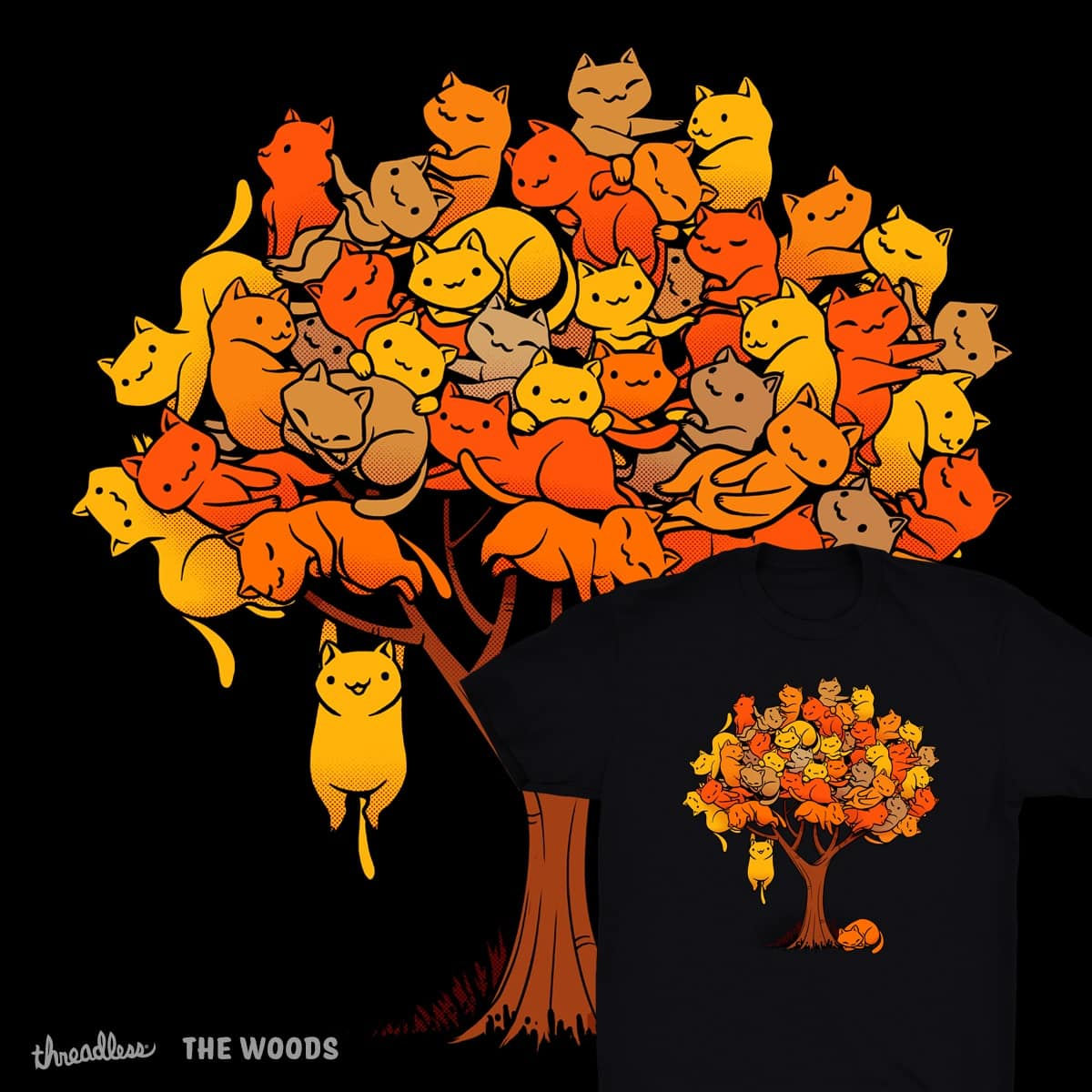 Cat Tree by tobefonseca on Threadless