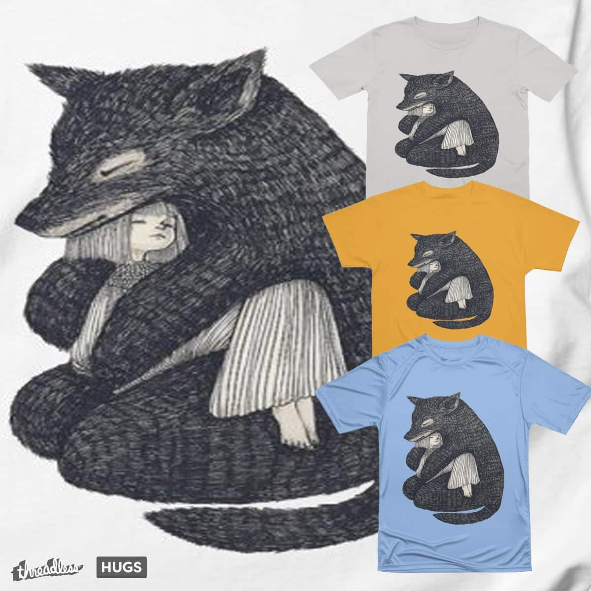 hug me, if you are not afraid that I will eat you by DzmitryKemnu on Threadless